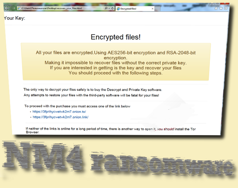 Ransomware NM4