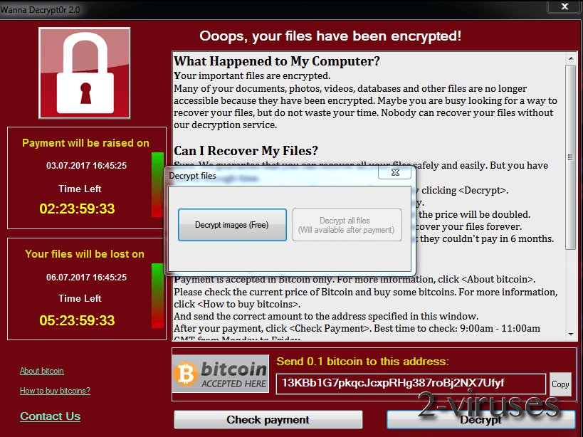 FakeCry ransomware virus