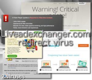 Il virus di reindirizzamento Liveadexchanger.com