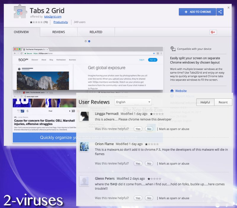 Tabs2Grid browser virus