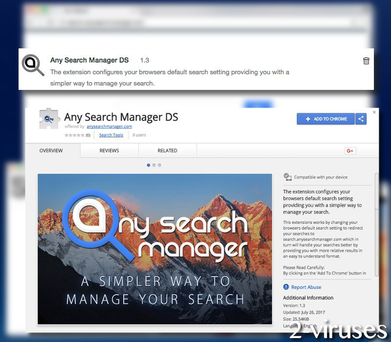 Anysearchmanager.com virus