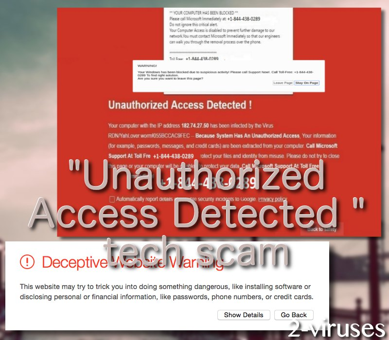 """""""Unauthorized access detected"""" scam"""