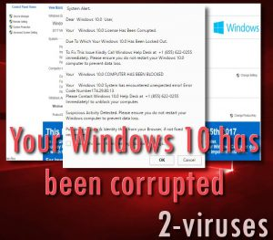 Windows 10 License Has Been Corrupted scam