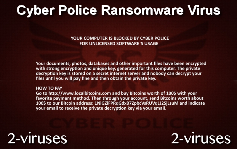 Cyber Police Ransomware Virus remove