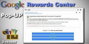 Il popup di Google Rewards Centre